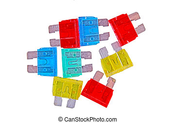 automobile fuses  isolated