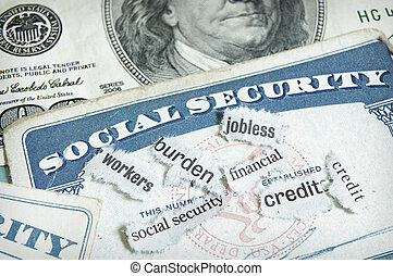 soc sec cards - newspaper headlines and social security...