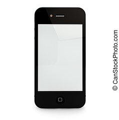Smart Phone - Render of an smart phone with blanck screen...
