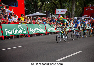 Caja Rural - MADRID - SEPTEMBER 9: Spanish Vuelta cycling,...