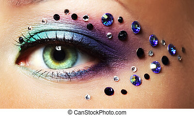Eye closeup with makeup