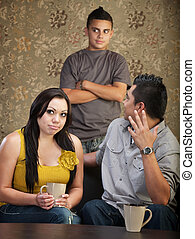 Disprespectful Teen with Parents - Frustrated father and...
