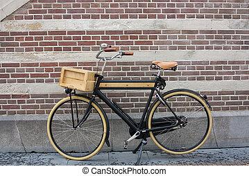 Wooden Bike - Wooden bike in Holland