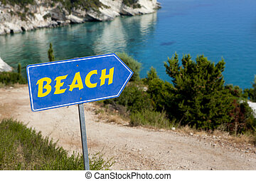Beach Access with quot;Beachquot; Sign - Beach Access with...