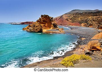 Lanzarote El Golfo Lago de los Clicos - Lanzarote El Golfo...
