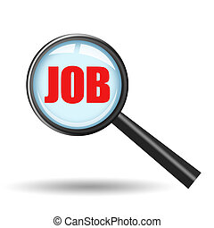 Job search icon isolated on white