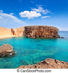 Lanzarote El Papagayo Playa Beach in Canaries - Lanzarote El...