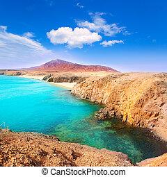 Lanzarote Playa del Pozo beach costa Papagayo - Lanzarote...