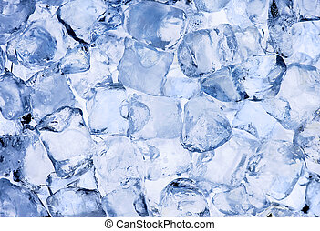 Ice cubes background - Background of ice cubes close up