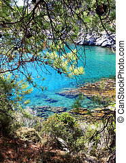 Turquois waters in Rhodes Greece - Crystal clear waters...