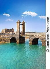 Arrecife Lanzarote castle and bridge - Arrecife Lanzarote...