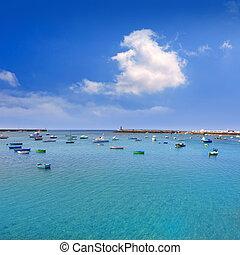 Arrecife Lanzarote boats harbour in Canaries - Arrecife...
