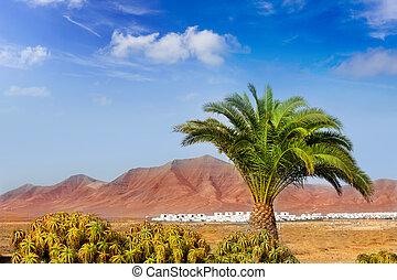 Ajaches mountain in Lanzarote Punta Papagayo at Canary...