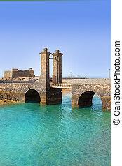Arrecife Lanzarote castle and bridge - Arrecife Lanzarote...