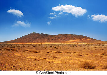 Ajaches mountain in Lanzarote Punta Papagayo at Canary...