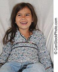 Smiling Alaska Native Girl