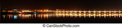 Panorama of Bordeaux Pierre bridge - Panorama of Bordeaux...