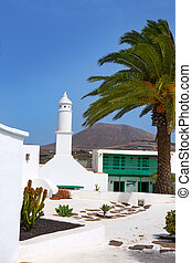 Lanzarote san Bartolome monumento Campesino in Canary...