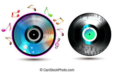 Vinyl record with CD