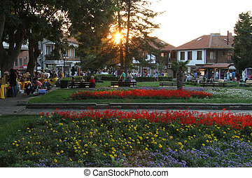 Square in Nesebar, Bulgaria