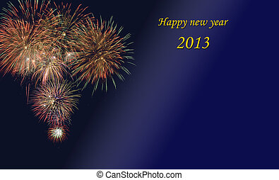 new year 2013 - Christmas and new year card 2013