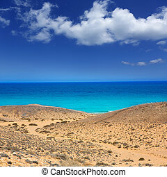 Lanzarote south Punta Papagayo sea in Canaries - Lanzarote...