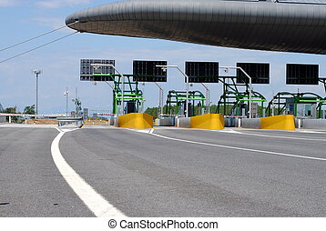 highway toll gate on italian road