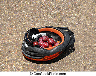 plums and helmet
