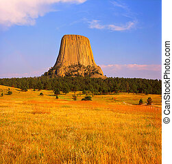 Devils Tower National Monument - Summer viewpoint on Devils...