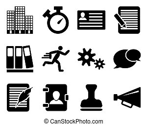 Office and bussines icon set. Vector illustration.