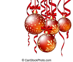 Christmas and New Year background Vector illustration EPS 10...