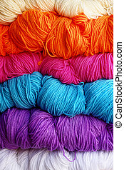 Yarn - Tibetian woolen yarn of different colors...