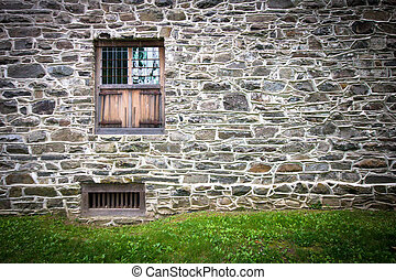 Stone Wall - Old stone house with window for backdrop