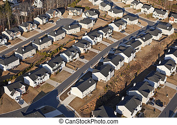 Brand New Suburb Aerial - Aerial of a brand new suburban...