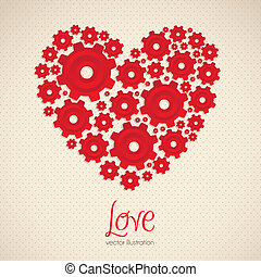 heart made with gears