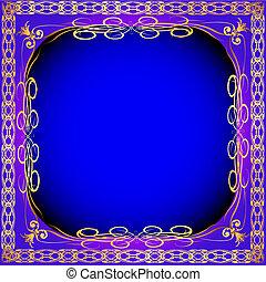 vintage background frame with gold(en) pattern