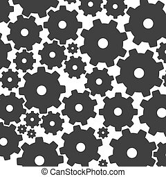 Silhouettes of gears