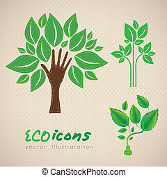 Ecological illustrations of plants