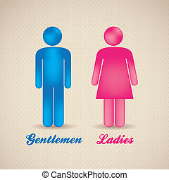 lady and gentleman - illustration of lady and gentleman,...