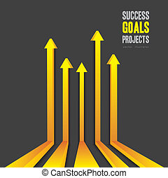 Success Way - illustration of abstract line in perspective,...