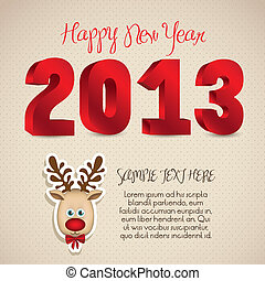 new year 2013 - illustration of new year 2013, happy new...