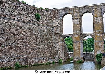Aqueduct of Nepi. Lazio. Italy.