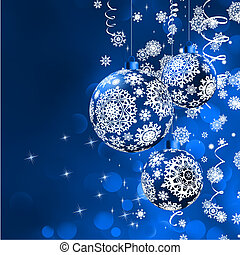 Christmas bokeh background with baubles EPS 8 vector file...