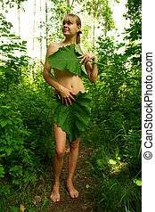 forest girl - Tarzan girl Summer in Russia
