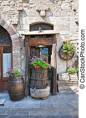 callejón, San, Géminis, Umbria, Italia