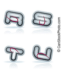 Capital letters - Custom made drawn from the scratch capital...