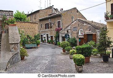 Alleyway. Sutri. Lazio. Italy.