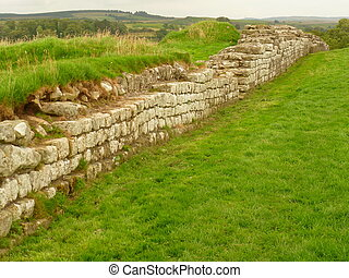 Hadrians Wall - Section of Hadrians Wall, Cumbria, England