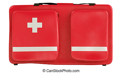 Medical kit isolated on white background
