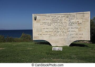 Anzac Cove, sphinx rock - sphinx rock, Gallipoli, Lone Pine,...